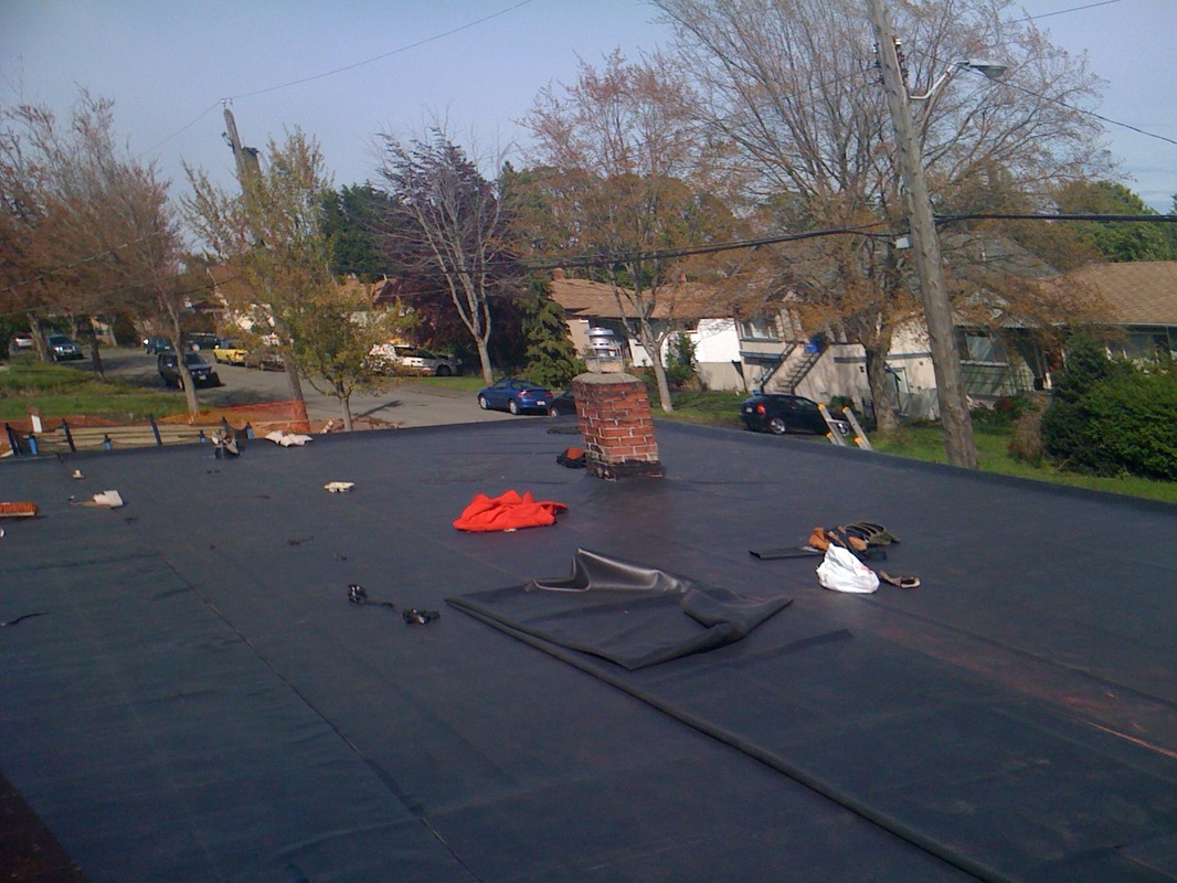 Flat Re Roof EPDM Roof Victoria BC